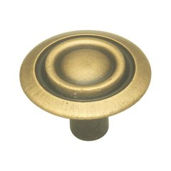 Cavalier 1-1/8 Inch Diameter Antique Brass Cabinet Knob