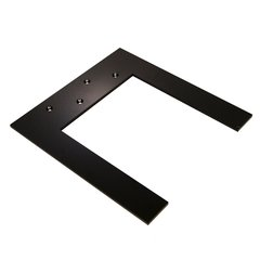 Lincoln Hidden Countertop Support 13.25 inch x 12 inch Black