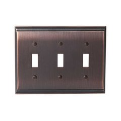 Candler Three Toggle Wall Plate Oil Rubbed Bronze <small>(#BP36502ORB)</small>