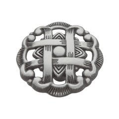 Cavalier 1-1/2 Inch Diameter Antique Pewter Cabinet Knob <small>(#P126-AP)</small>