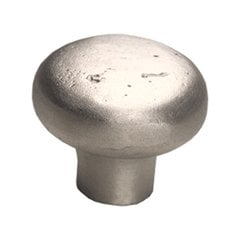 Mountain 1-5/8 Inch Diameter Antique Silver Cabinet Knob