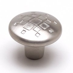 Overture 1-5/16 Inch Diameter Brushed Nickel Cabinet Knob <small>(#7114-1BPN-C)</small>