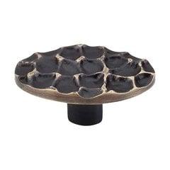 Cobblestone 2-5/8 Inch Diameter Brass Antique Cabinet Knob <small>(#TK299BA)</small>