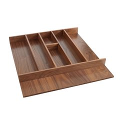 "Trimmable Utility Tray 21-1/8"" W Walnut"