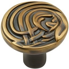 Nouveau Knob 1-3/8 inch Diameter Winchester Brass