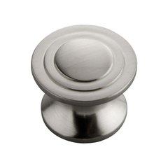 Deco 1-1/4 Inch Diameter Satin Nickel Cabinet Knob