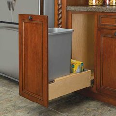 Single Trash Pullout 50 Quart-Wood <small>(#4WCBM-1550DM-1)</small>