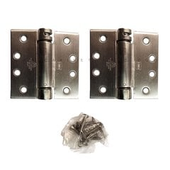 LB4390-400 Square Corner Single Act Spring Hinge-S. Steel <small>(#LB4390C-400-630)</small>