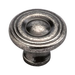 Conquest 1-1/8 Inch Diameter Black Nickel Vibed Cabinet Knob <small>(#P14402-BNV)</small>