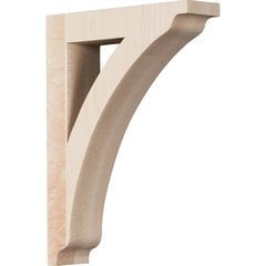 """Thorton 1.75""""W x 6.5""""D x 9""""H Countertop Bracket - Rubberwood"""