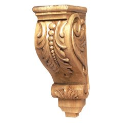 "Cor-5 Floral Corbel 16"" H-Maple"
