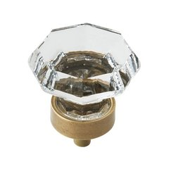 Traditional Classics 1-1/4 Inch Diameter Crystal/Gilded Bronze Cabinet Knob