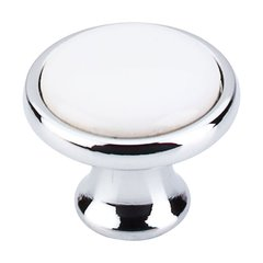 Somerset 1-1/4 Inch Diameter Polished Chrome Cabinet Knob