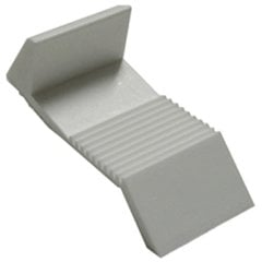 5MM Locking Clip White Plastic Sold per Hundred