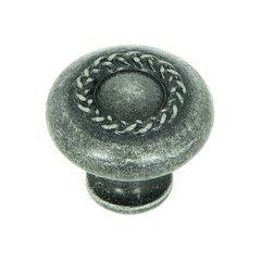 Palermo 1-1/4 Inch Diameter Swedish Iron Cabinet Knob <small>(#CP3027-SI)</small>