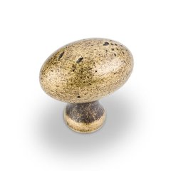 Belcastel 2 1-9/16 Inch Diameter Antique Brass Machined Dull Cabinet Knob <small>(#MO6313ABM-D)</small>