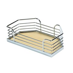 "Arena Plus Chefs Pantry Door Tray Set 14-1/8"" W Chrome/Maple"