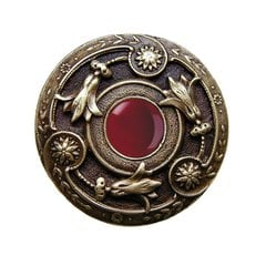 Jewel 1-1/4 Inch Diameter Antique Brass Cabinet Knob <small>(#NHK-161-AB-RC)</small>
