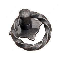 Forged Iron 1-3/16 Inch Diameter Natural Iron Cabinet Ring Pull <small>(#240230908)</small>