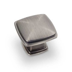 Milan 1 1-3/16 Inch Diameter Bright Nickel Brushed with Dull Lacquer Cabinet Knob <small>(#1091BNBDL)</small>