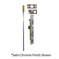 UL Rated Flush Bolt For Metal Doors Satin Brass