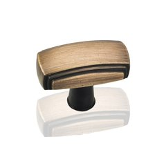 Delgado 1-9/16 Inch Diameter Antique Brushed Satin Brass Cabinet Knob <small>(#519ABSB)</small>