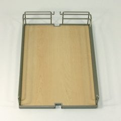 Arena Plus Tray Set (2) 8 inch Wide Champagne/Maple