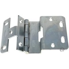 #374 Five Knuckle Overlay Institutional Hinge - Dull Chrome