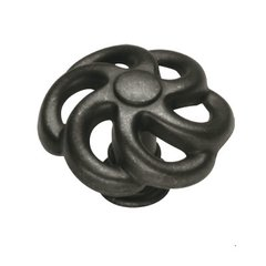 Charleston Blacksmith 1-1/2 Inch Diameter Black Iron Cabinet Knob