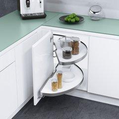 Cornerstone Blind Corner for 36 inch Cabinets RH White/Silver