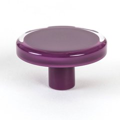 Next 2 Inch Diameter Violet Transparent Cabinet Knob <small>(#9784-7000-P)</small>
