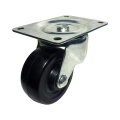 Rubber Caster with Swivel - Black