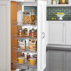 "4 Basket Pantry 43-13/32"" - 50-3/4"" H Chrome"