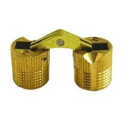 Solid Brass Barrel Hinge 12mm