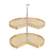 Wood Classic Pie Cut Shelf Set 28""