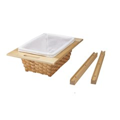 4WV Base 18 Woven Basket With Rails Eucalyptus