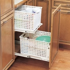 HURV Pull-Out Polymer Hamper-White