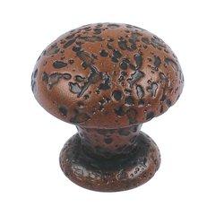 Olde World 1 Inch Diameter Rust Cabinet Knob <small>(#286-R)</small>