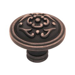 French Romantics 1-1/2 Inch Diameter Bronze W/Copper Highlights Cabinet Knob