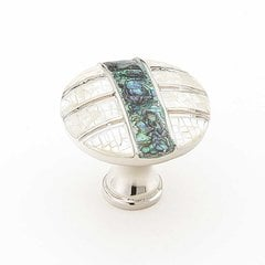 Fair Isle 1-3/8 Inch Diameter Polished Nickel Cabinet Knob