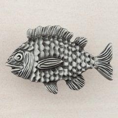 """Fun Fish Knob 1-5/8"""" Dia Antique Pewter"""