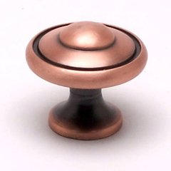 Euro Traditions 1-3/16 Inch Diameter Brushed Antique Copper Cabinet Knob <small>(#2923-1BAC-P)</small>