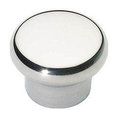 Fluted 1-1/4 Inch Diameter Polished Stainless Steel Cabinet Knob