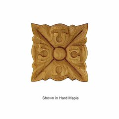 Brown Wood Small Acanthus Tile Unfinished Alder 01902023AL1