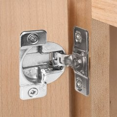 Tec 863 Face Mount 1-7/16 inch Overlay Screw On Hinge <small>(#02284-15)</small>