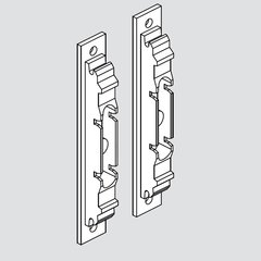 Aventos Wood/Wide Alum Door Hardware Set