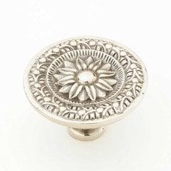 Eastlake Inspirations 1-3/4 Inch Diameter White Brass Cabinet Knob