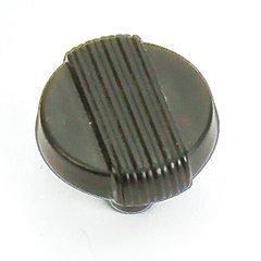 Wired 1-1/4 Inch Diameter Matte Black Cabinet Knob