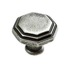 Firenza Designs 1-1/8 Inch Diameter Firenza Silver Cabinet Knob