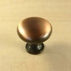 Lisbon 1-3/16 Inch Diameter Brushed Antique Copper Cabinet Knob